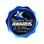 Readers choice award, Diamond for favorite Optician in Milton