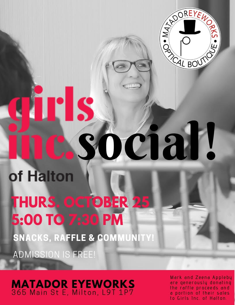 girls inc. of Halton Social invitation to raise funds for charity