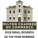 2018 Small business of the year Milton Chamber of Commerce